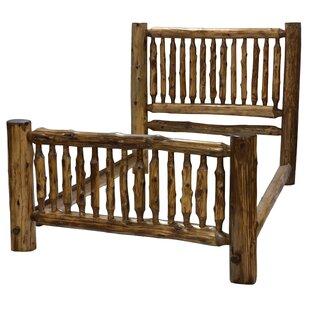 Fireside Lodge Traditional Cedar Log Panel Bed