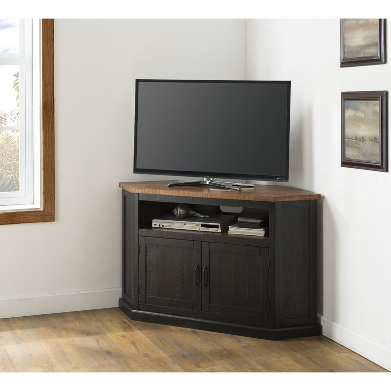 August Grove® Tacoma Solid Wood Corner TV Stand for TVs up to 60
