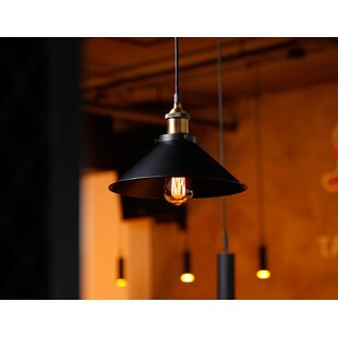 Verdin Industrial Metal 1-Light Cone Pendant (Set of 3) by Williston Forge