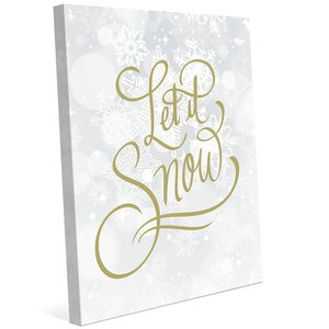 'Let it Snow' Textual Art on Wrapped Canvas
