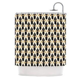 Glitter Triangles Shower Curtain