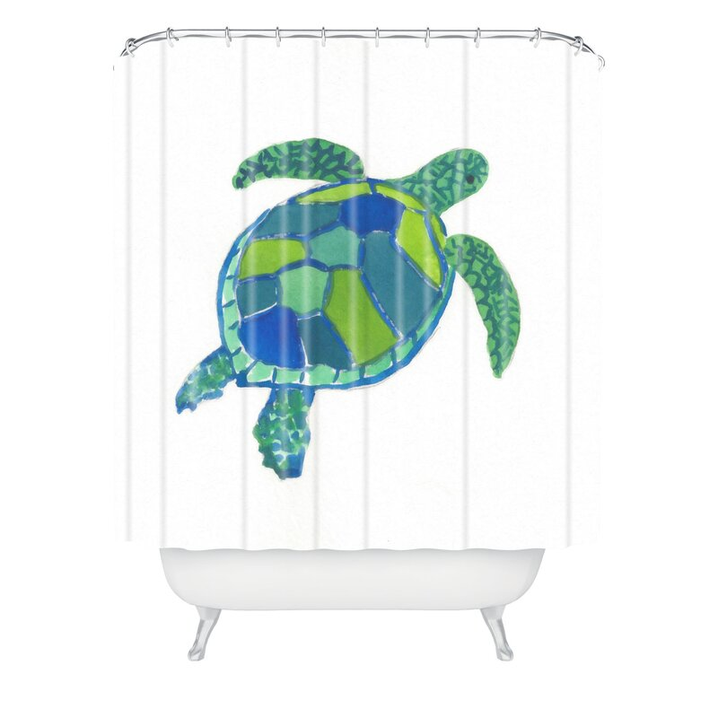 Attractive Sea Turtle Shower Curtain