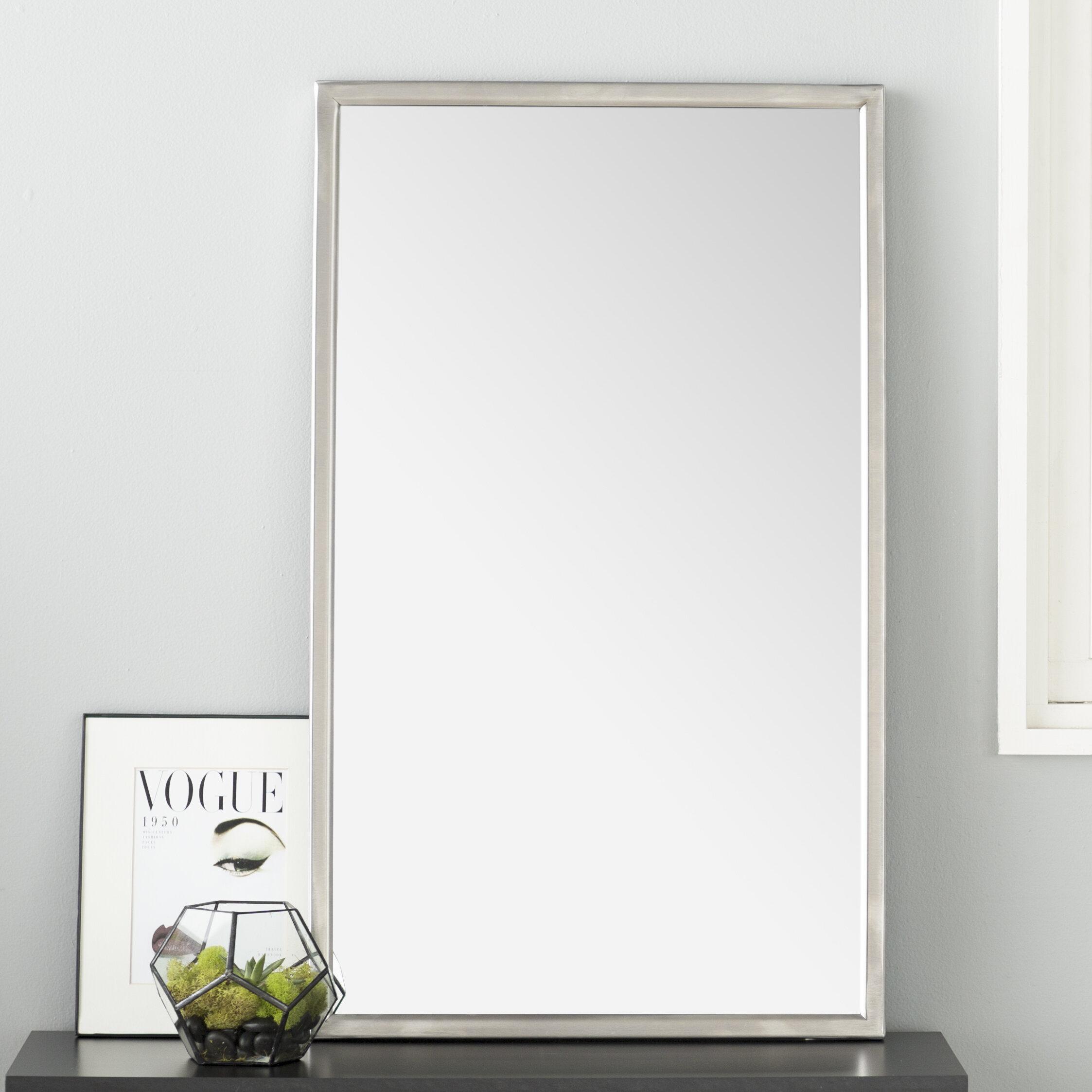 Wade Logan Petrolia Frame Wall Mirror & Reviews   Wayfair