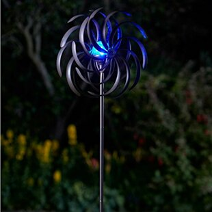 HamLake Light Up Spiro Wind Spinners Solar Powered Garden Torch By Sol 72 Outdoor