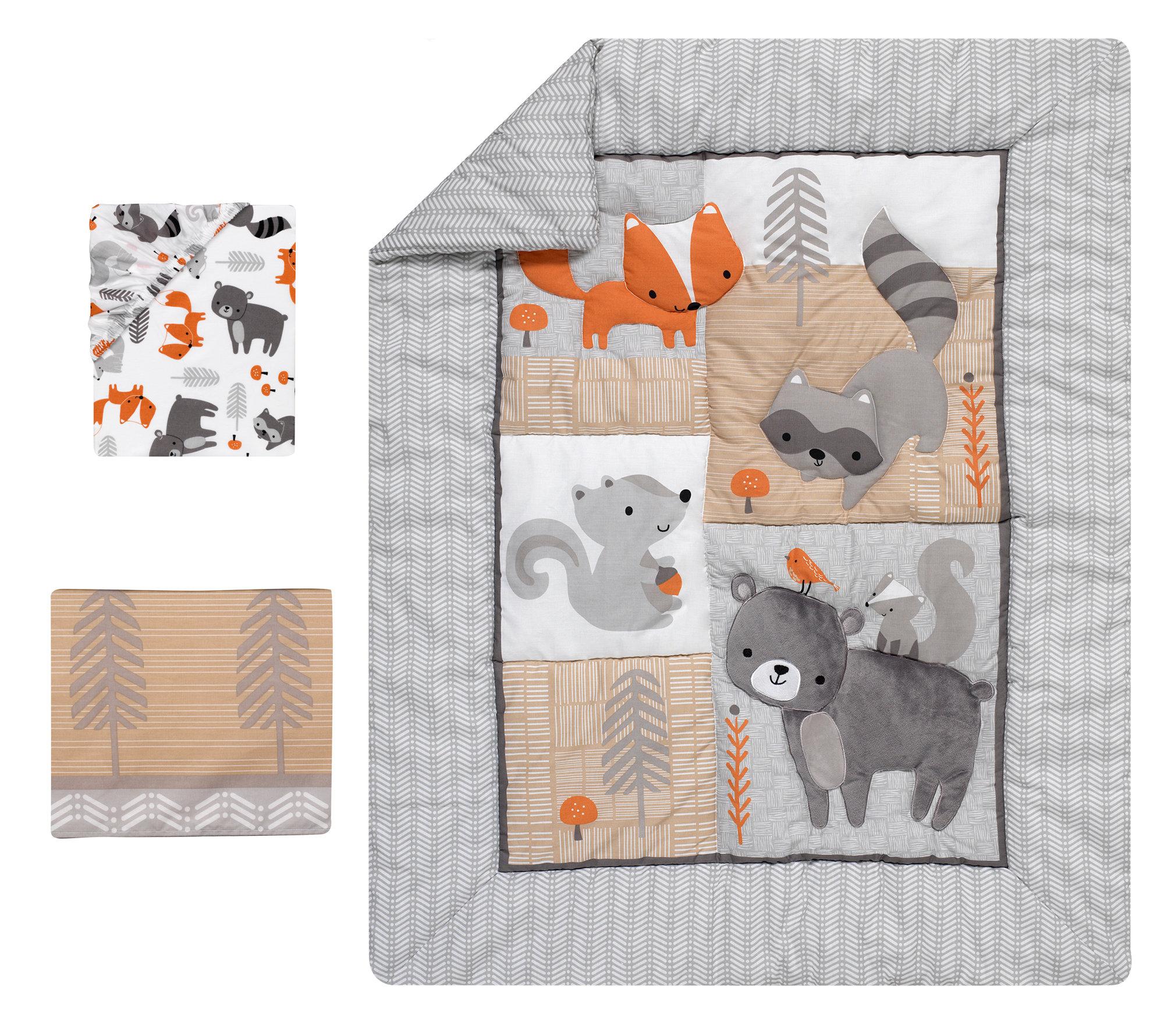 Fox Baby Blanket Woodland Nursery Woodland Decor Woodland Baby Quilt Fox Baby Quilt Fox Nursery Fox Quilt Fox Blanket Fox Bedding