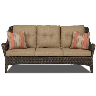 Fleur De Lis Living Rouse Patio Sofa with Cushion
