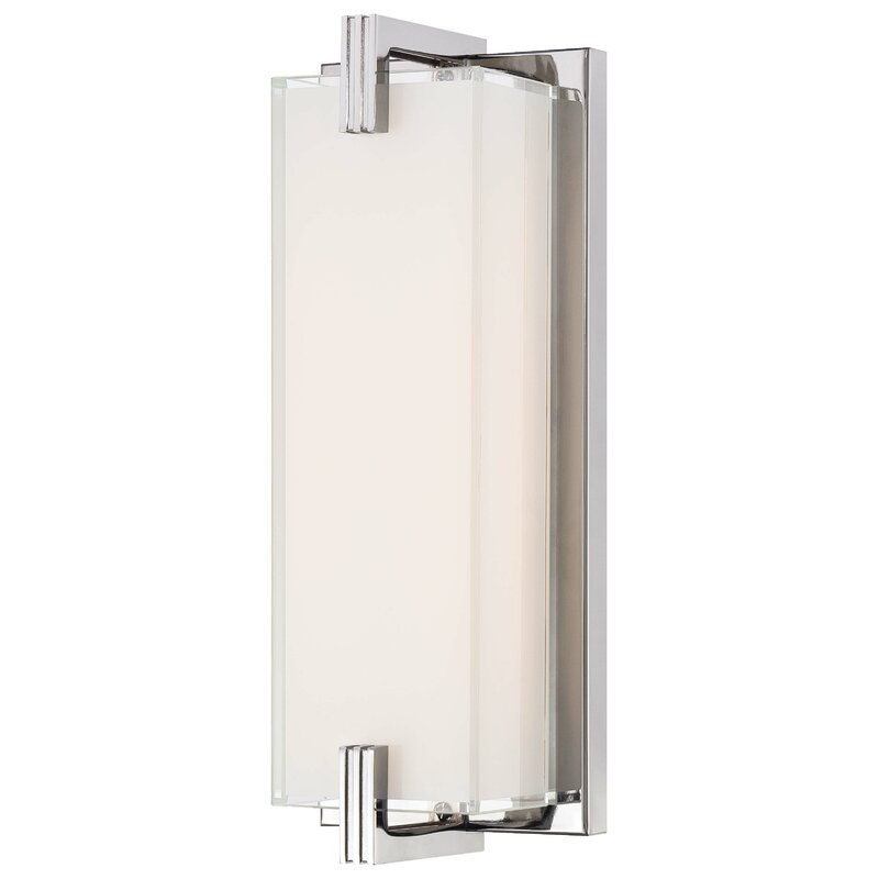 George Kovacs Cubism 1 Light Led Dimmable Chrome Armed Sconce Reviews Wayfair