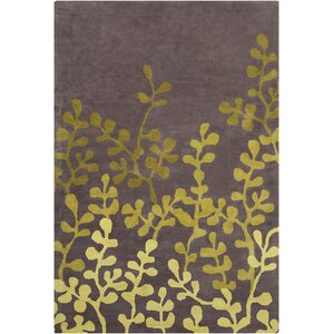 Willow Hand Tufted Wool Brown/Green Area Rug