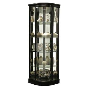 Westerberg Lighted Corner Curio Cabinet by Red Barrel Studio