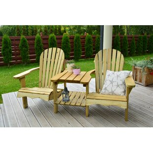 Macie Wooden Love Seat By Sol 72 Outdoor