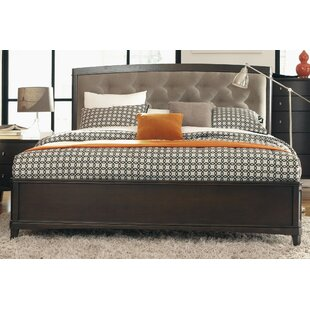 Black Cloister Upholstered Platform Bed by Darby Home Co