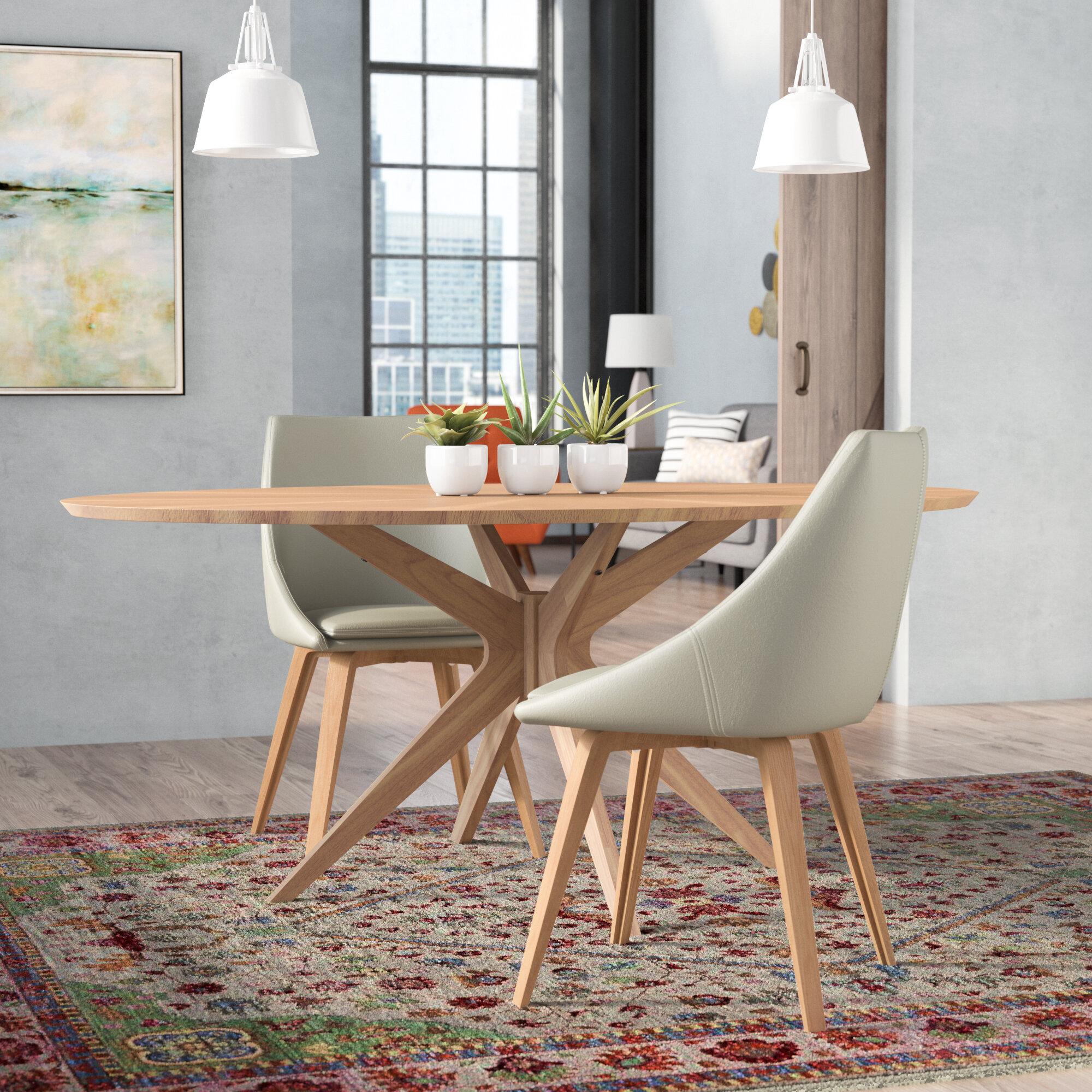 Miraculous Oak Laminate Top Dining Table Wayfair Download Free Architecture Designs Rallybritishbridgeorg