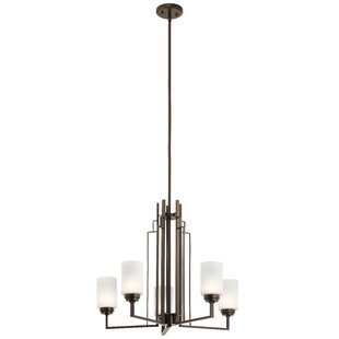 George Oliver Zazueta 5-Light Shaded Chandelier