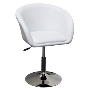 Wade Logan Mcphee Adjustable Swivel Barrel Chair