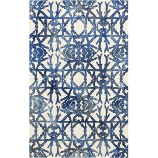 Shopping for Glenmoor Hand-Tufted Navy/Off-White Area Rug By Ivy Bronx