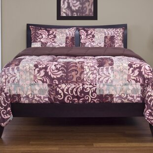 Fleur De Lis Living Lois 3 Piece Reversible Duvet Cover Set