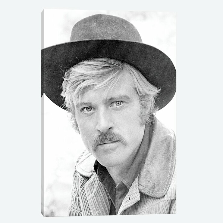 814b7a440070f East Urban Home  Robert Redford Wearing a Cowboy Hat  Photographic ...