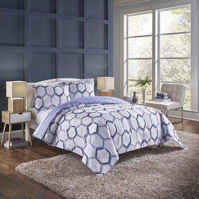Suwanee Reversible Comforter Set Wrought Studio Size: Twin Extra Long Comforter + 1 Sham, Color: Navy