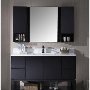 Maly 55 Single Bathroom Vanity Set with Mirror By Orren Ellis