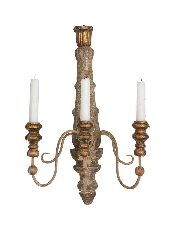 Brocante 3-Light Candle Wall Light