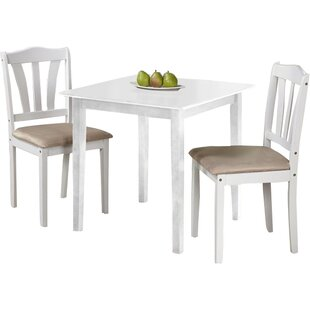 Dinah 3 Piece Dining Set by Alcott Hill Best Choices