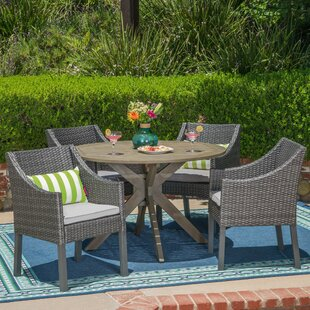 Albany 5 Piece Dining Set with Cushions b..