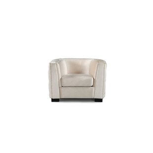 Orben Button-Tufted Curved Shelter Arm Chesterfield Chair