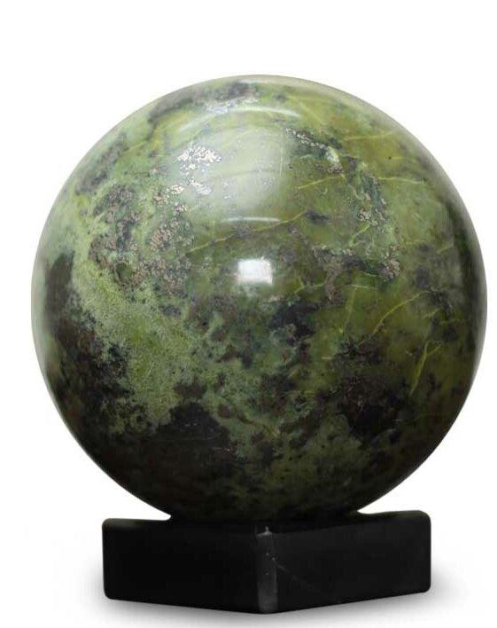 NOVICA Reflections Pyrite Sphere Sculpture