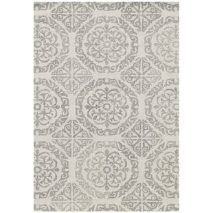 Look for Boston Hand-Tufted Wool White Area Rug ByHouse of Hampton