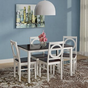 Cassius 5 Piece Dining Set by Andover Mills Cheap
