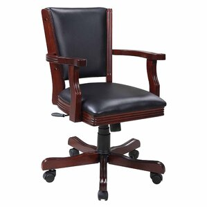 Kingston Poker Genuine Leather Upholstered Dining Chair (Set of 4) by Hathaway Games