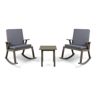 Union Rustic Bosse 3 Piece 2 Person Seating Group with Cushions