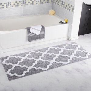 Gray Silver Bath Rugs Mats Youll Love Wayfair - Black and white tweed bath rug for bathroom decorating ideas
