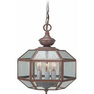3-Light Foyer Pendant by Volume Lighting