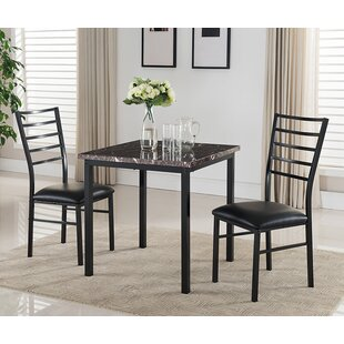Kandi 3 Piece Dining Set Latitude Run