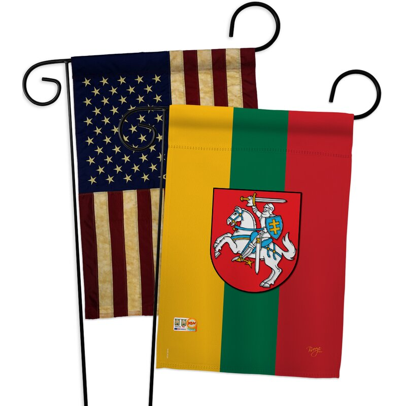 Breeze Decor Lithuania Impressions Decorative 2 Sided Polyester 19 X 13 In 2 Piece Garden Flag Set Wayfair