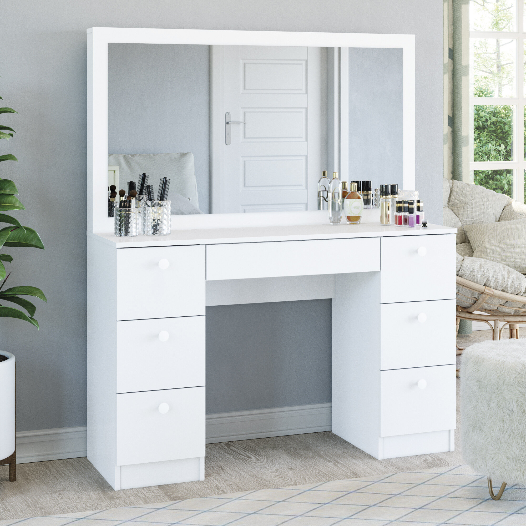 Ebern Designs Boahaus Artemisia Dressing Table Reviews Wayfair