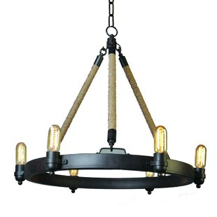 Gracie Oaks Cecilio 6-Light Candle-Style Chandelier