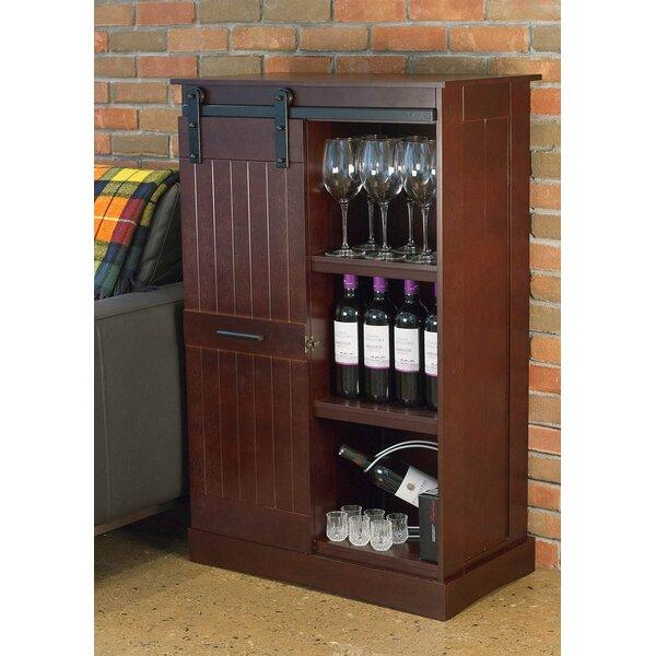 Fleur De Lis Living Kerri 12 Bottle Floor Wine Cabinet