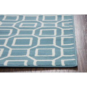 Julian Blue/Aqua Indoor/Outdoor Area Rug