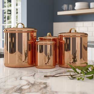 Gracinha 4 Piece Kitchen Canister Set