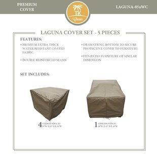 Rosecliff Heights East Village 5 Piece Protective Patio Sofa Set Cover