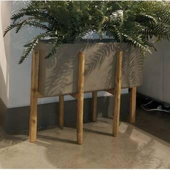 Gracie Oaks Arrian Farmhouse Rectangular 3 Piece Planter Box Set With Handle Wayfair