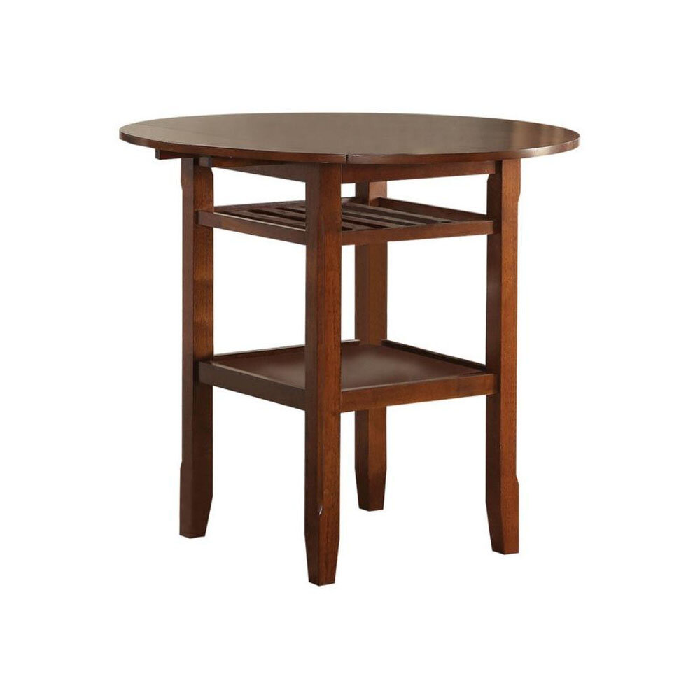 Gracie Oaks Gennessee Counter Height Drop Leaf Dining Table Wayfair