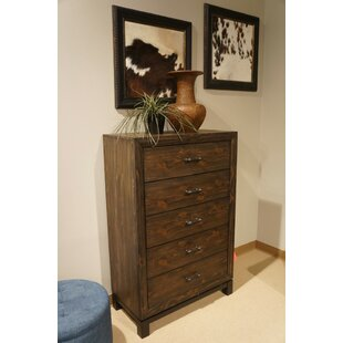 Millwood Pines Yearby Spacious Wooden 5 Drawer Chest