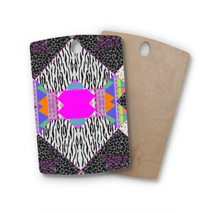 Vasare Nar Birchwood Zebra Native Tribal Pattern Cutting Board By East Urban Home