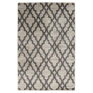 Keynsham Birch White/Sterling Gray Area Rug By House of Hampton