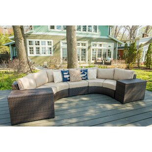 Darden 5 Piece Sectional Seating Group With Cushions by Rosecliff Heights Comparison