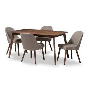 Croom Mid-Century 5 Piece Dining Set by G..