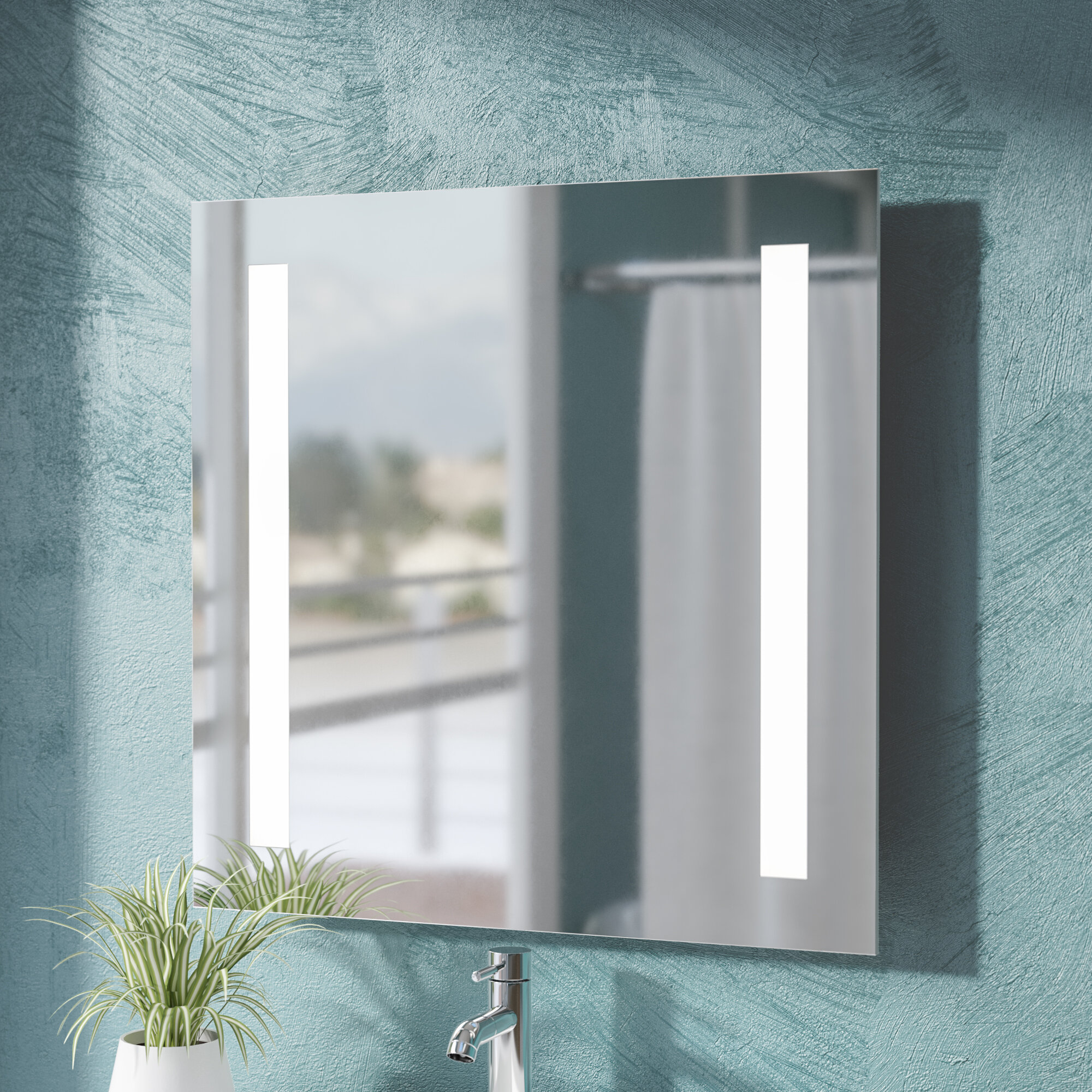 Wade Logan Argos Modern Bathroom Vanity Mirror Reviews Wayfair